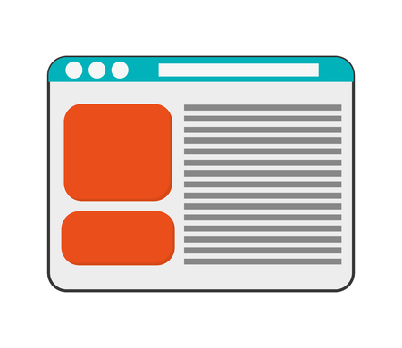 webpage: flat design single webpage icon vector illustration