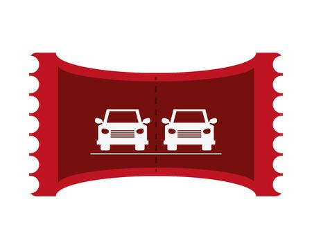 deposit slips: flat design Parking car ticket vector illustration