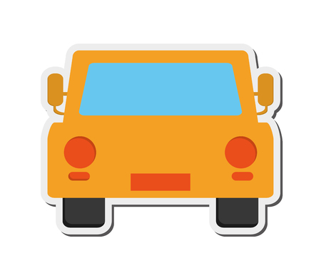 frontview: flat design car frontview icon vector illustration Illustration
