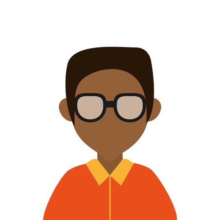 fake mask: flat design dark skin faceless man portrait icon vector illustration Illustration