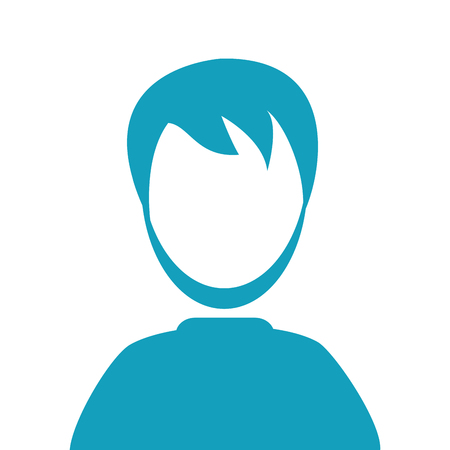 faceless: flat design faceless man portrait icon vector illustration