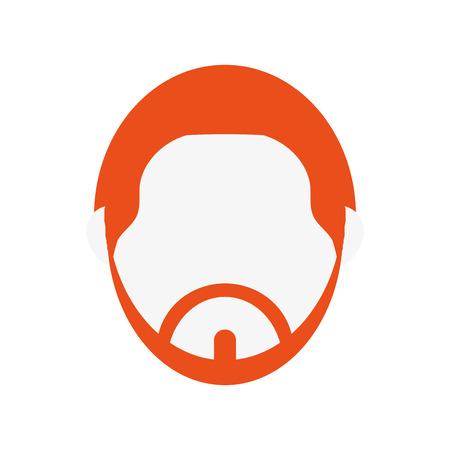 anonymity: flat design bearded faceless man portrait icon vector illustration