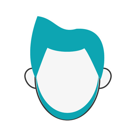 fake mask: flat design bearded faceless man portrait icon vector illustration