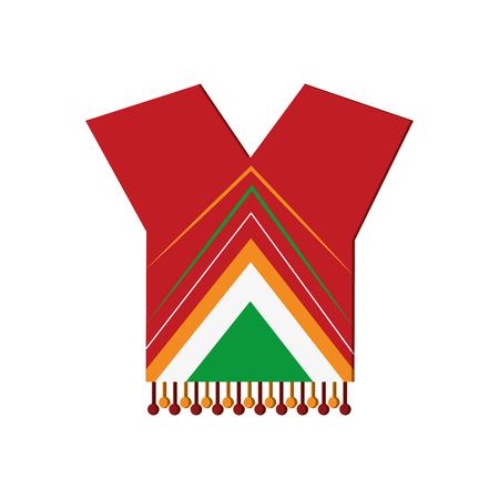 poncho: flat design mexican poncho icon vector illustration Illustration