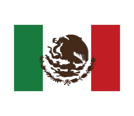 foreigner: flat design mexican flag icon vector illustration Illustration