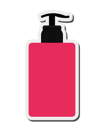 freshener: flat design cosmetic bottle icon vector illustration