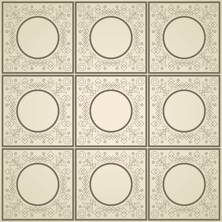 traditional silver wallpaper: flat design geometrical circular pattern background vector illustration Illustration