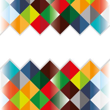 flat abstract square pattern background design vector illustration Illustration