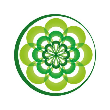 vegetate: flat design leaves nature icon vector illustration