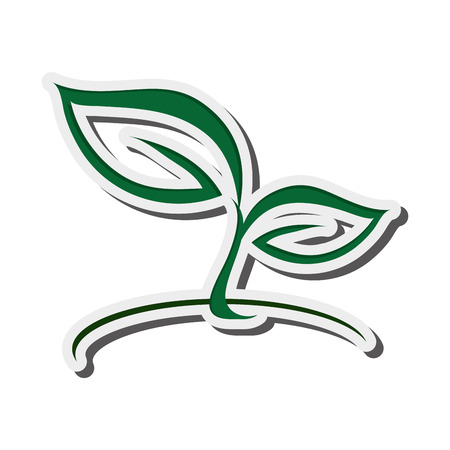 vegetate: flat design abstract leaves nature icon vector illustration