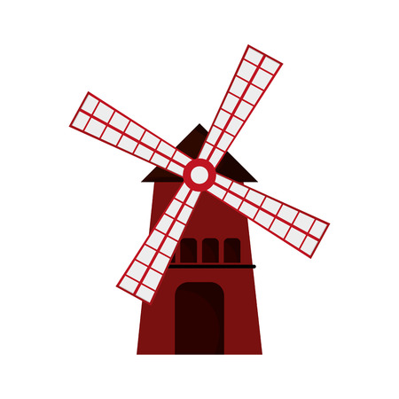 agro: flat design classic windmill icon vector illustration