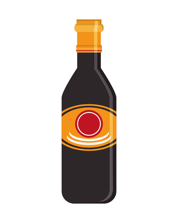 soy sauce: flat design soy sauce icon vector illustration Illustration