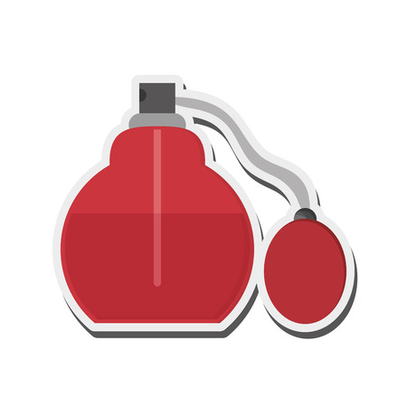 stage makeup: flat design perfume bottle icon vector illustration