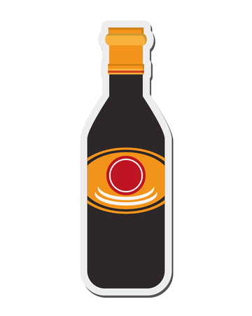 soy: flat design soy sauce icon vector illustration Illustration