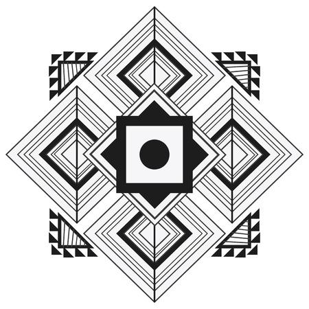 flat design tribal geometric pattern icon vector illustration Illustration