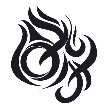 flat design fire abstract icon vector illustration Illustration
