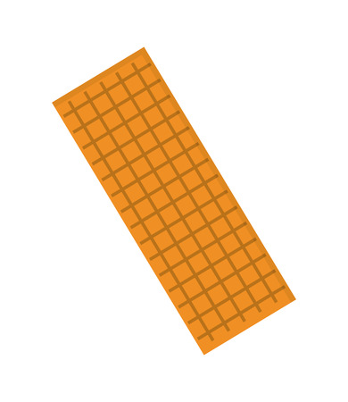crimp: flat design biscuit cracket icon vector illustration Illustration