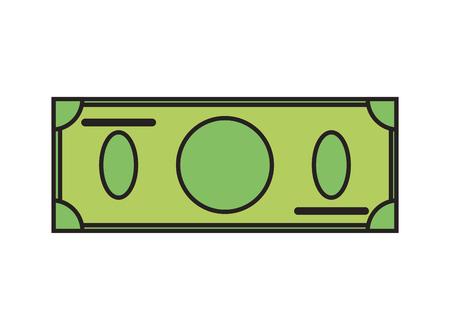 stylized banking: flat design blank dollar bill icon vector illustration