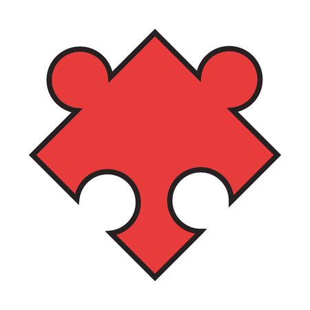 conundrum: flat design puzzle piece icon vector illustration