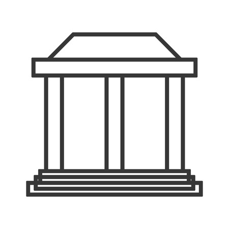 doric: flat design ancient greek building icon vector illustration