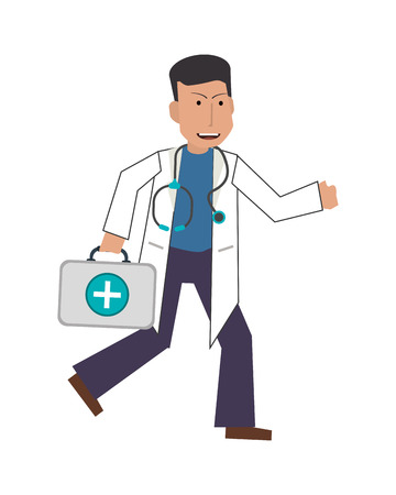 medic: flat design doctor or medic icon vector illustration