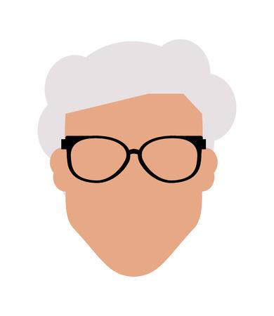 anonymity: flat design faceless man portrait icon vector illustration