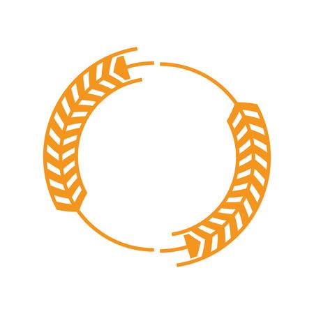rye: flat design wheat ear badge icon vector illustration Illustration