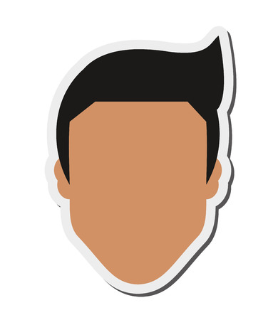 fake mask: flat design faceless man icon vector illustration