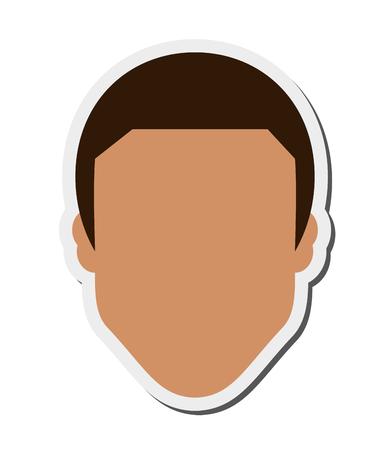 anonymity: flat design faceless man icon vector illustration