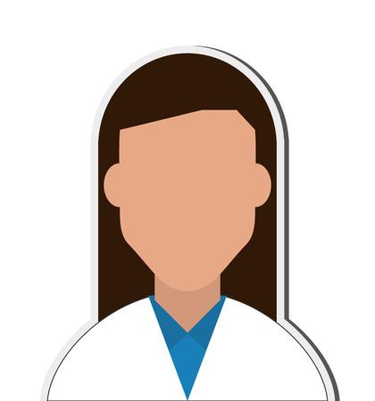medic: flat design female doctor or medic icon vector illustration Illustration