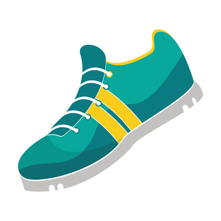 foot gear: flat design running shoes icon vector illustration