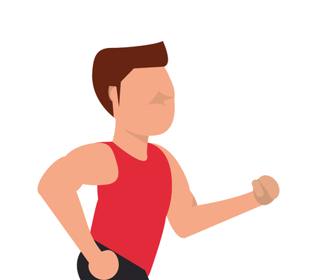 flat design running man icon vector illustration