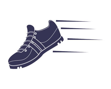 flat design running shoes icon vector illustration
