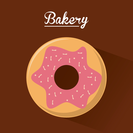 donut shop: donut food bakery shop traditional icon. Colorful design. Vector illustration