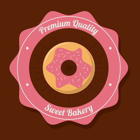 preparations: donut food bakery shop traditional icon. Colorful design. Vector illustration