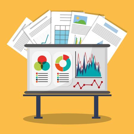 hoja de calculo: Spreadsheet board document infographic icon. Colorful design. Vector illustration