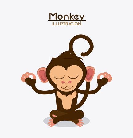 ape: monkey cartoon animal ape icon. Colorful design. Vector illustration