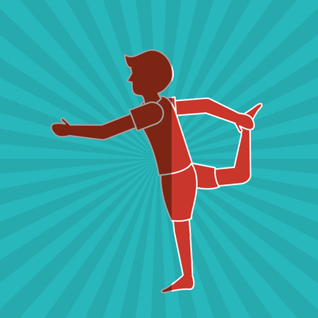 Yoga concept with icon design, vector illustration 10 eps graphic.