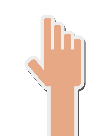 index: flat design hand pointing with index finger icon vector illustration
