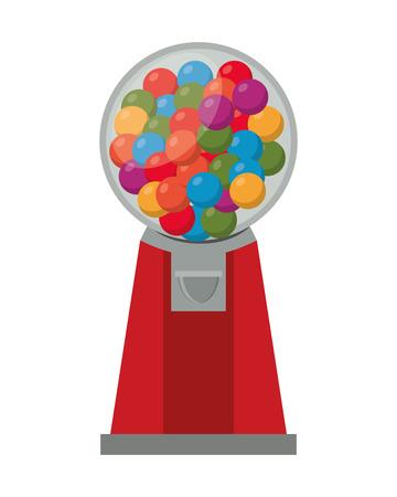 gumball: flat design Gumball Machine icon vector illustration