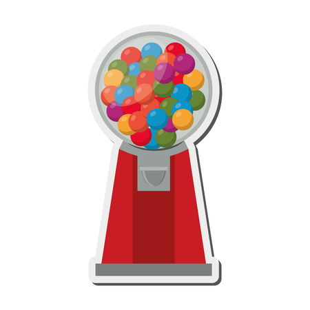 gumball: flat design Gumball Machine icon vector illustration