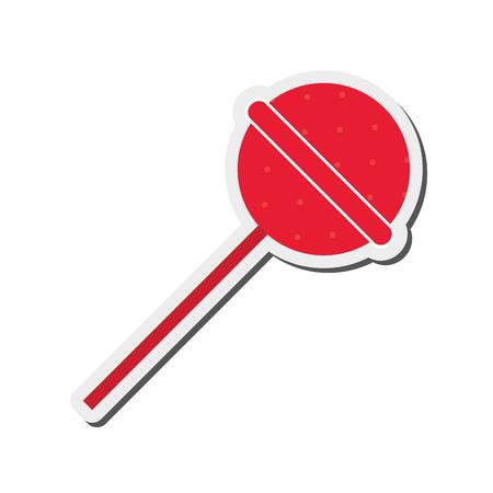 flat design candy lollipop icon vector illustration Illustration