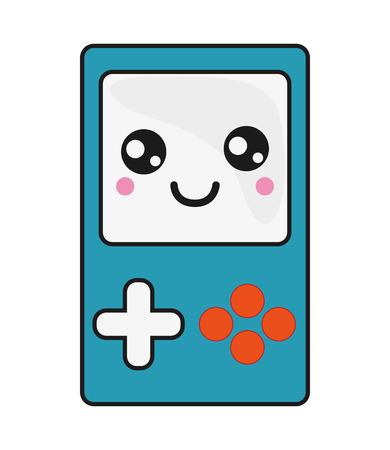 console: flat design  handheld console icon vector illustration