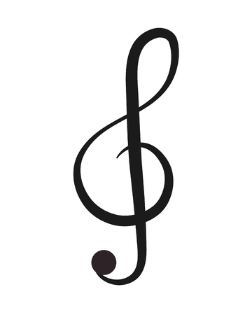 festival scales: flat design g clef note icon vector illustration