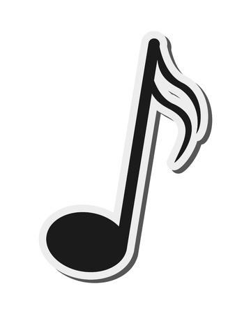 quaver: flat design music note icon vector illustration
