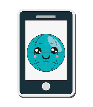 cellphone icon: flat design  cellphone icon vector illustration
