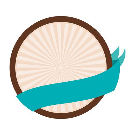flat design badge sticker or emblem icon vector illustration