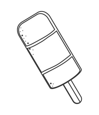 popsicle: flat design single popsicle icon vector illustration Illustration