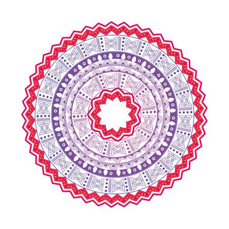 flat design colorful mandala icon vector illustration