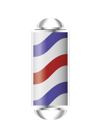 barber pole: flat design barber pole icon vector illustration